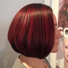 Red hair bob hairstyle
